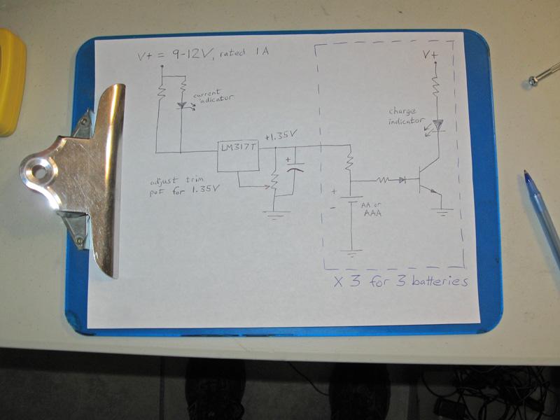 Easy Homemade 3-Battery Charger? (AA/AAA NiMH)